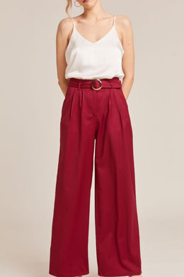 PANAMA RASPBERRY TAILORED TROUSERS