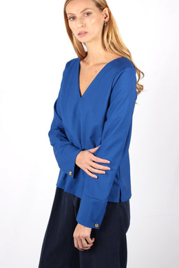 ROYAL BLUE CHLOÉ TOP