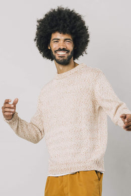 BROWN MOULINE SWEATER