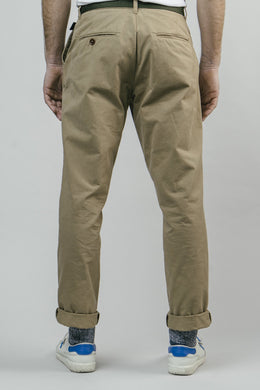 CAMEL CHINO TROUSERS