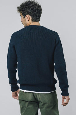 NAVY BLUE WATERFRONT SWEATER