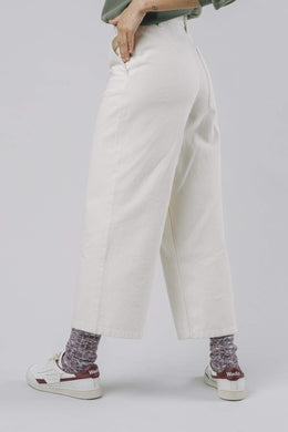 WIDE RAW TROUSERS