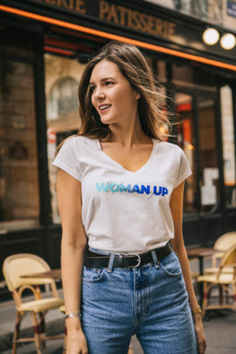 T-SHIRT WOMAN UP RAINBOW