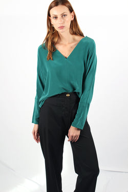 SILK TOP EDITH GREEN