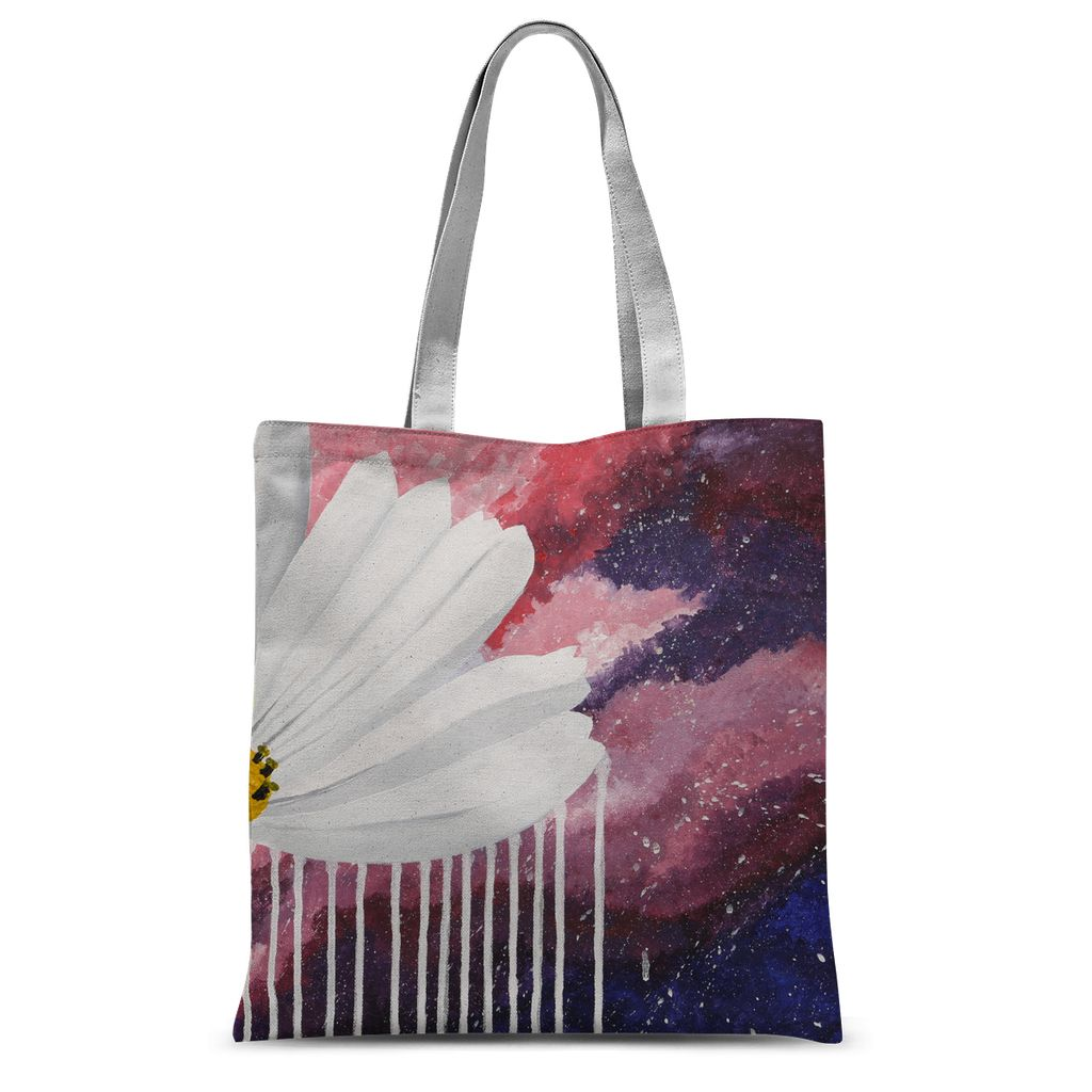 Cosmos in the Pink Sky Sublimation Tote Bag