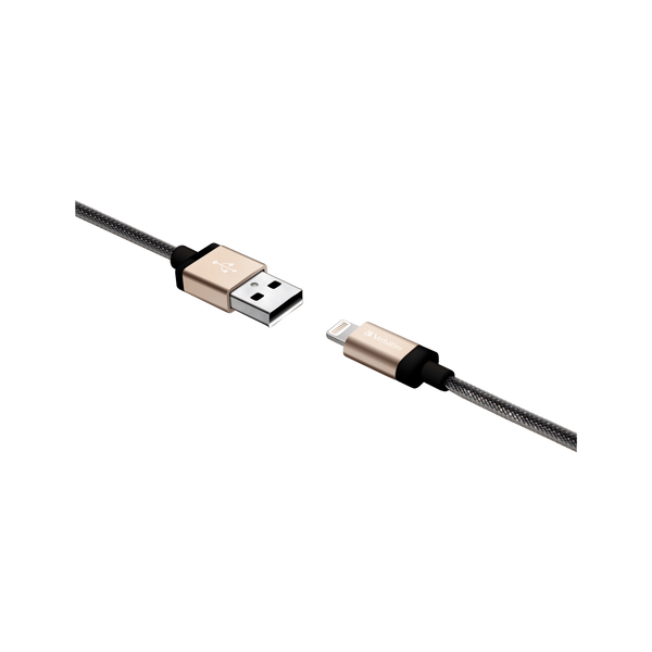 Verbatim - Metallic Charge&Sync Braided Lightning Cable | Charging and Power