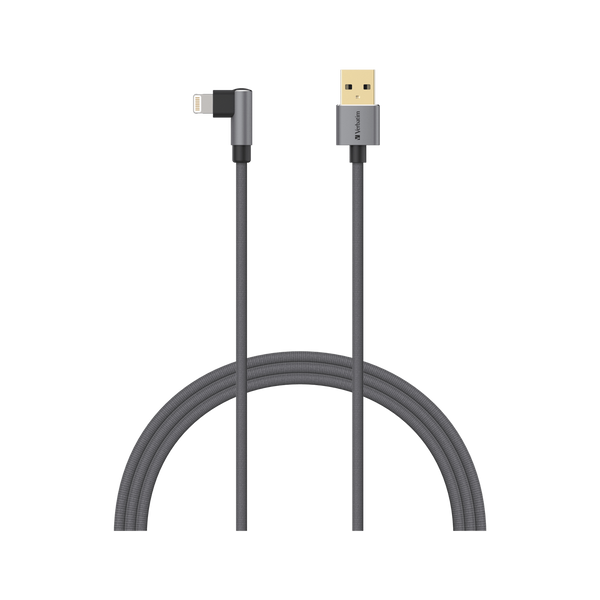 L-Shaped Lightning to USB-A Cable