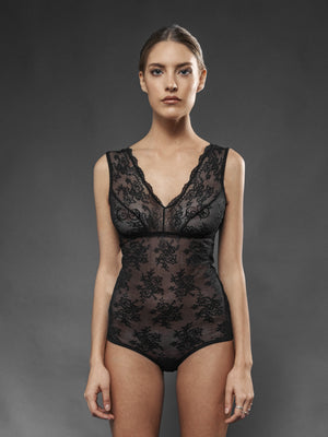 Body Pizzo Nero - Carami - Caramì Lingerie & Activewear Made in Italy