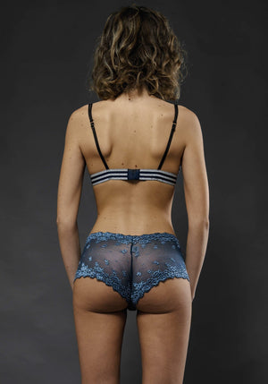 Culotte Blu Chantal - Carami - Caramì Lingerie & Activewear Made in Italy