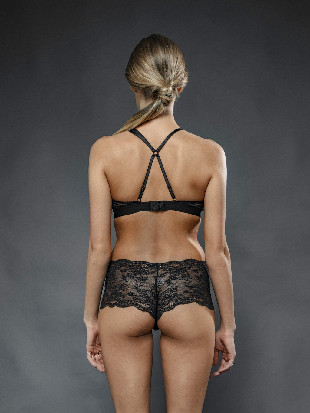 Culotte Nera Cora - Carami - Caramì Lingerie & Activewear Made in Italy
