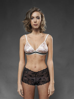 Culotte Nera Narciso - Carami - Caramì Lingerie & Activewear Made in Italy