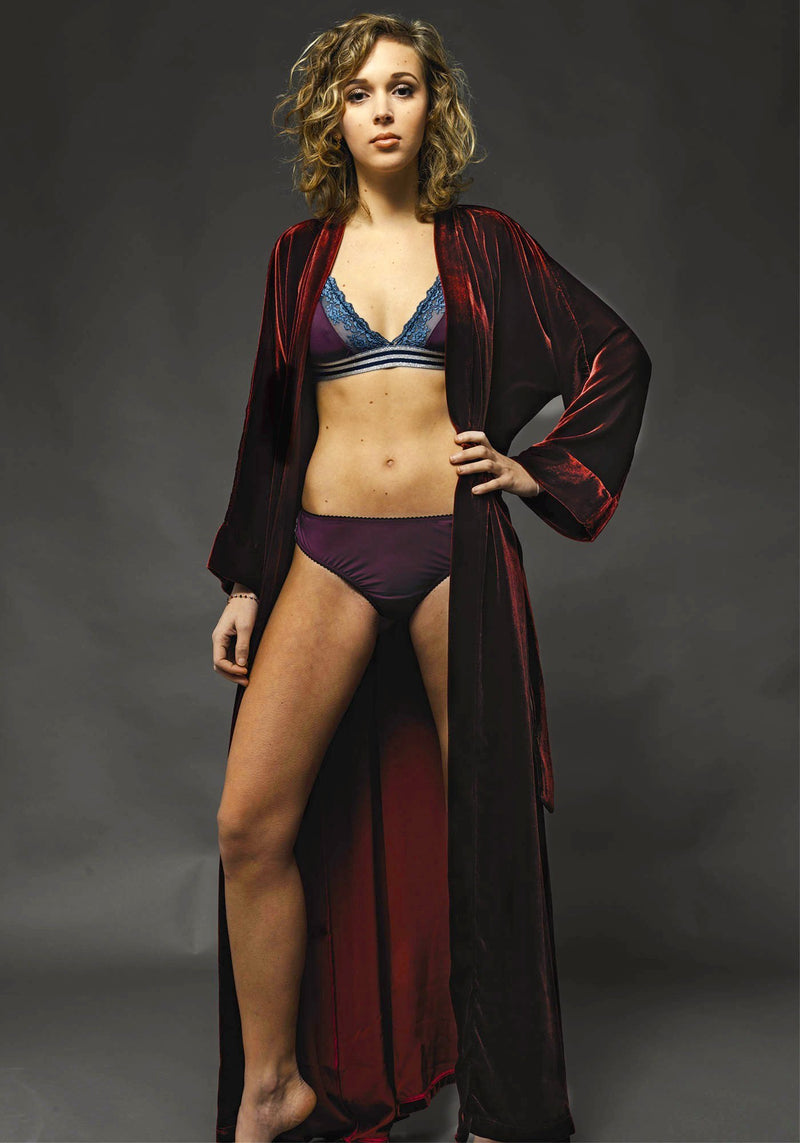 Kimono Velluto Rosso - Carami - Caramì Lingerie & Activewear Made in Italy