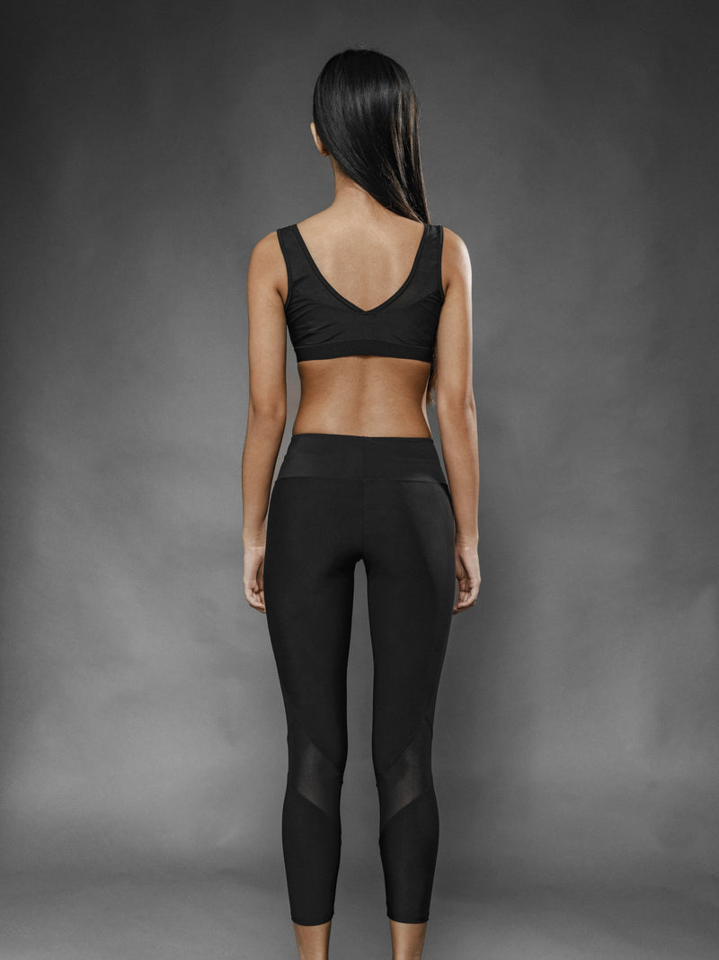 Leggings Sport Nero Olimpia - Carami - Caramì Lingerie & Activewear Made in Italy