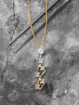 LADIES HANDAMDE JEWELLERY - HANDMADE GOLD DIAMOND PENDANT