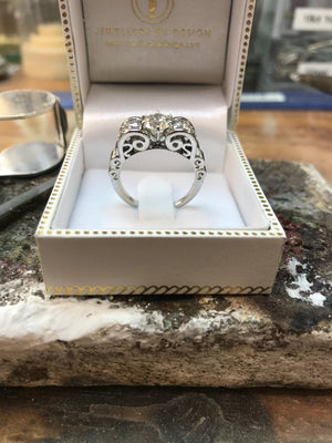 CAD (Computer Aided Design) Platinum Engagement Ring