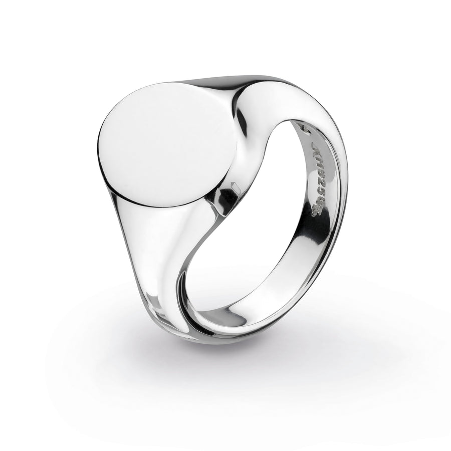Bevel Curve Heirloom Signet Ring - 1014hpm018