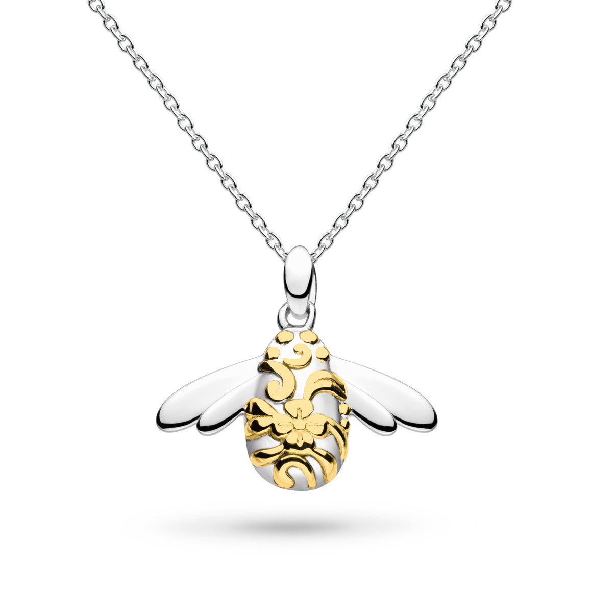 Blossom Bumblebee Gold Plate Necklace - 90339gd014