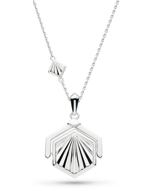 Empire Deco Hexagonal Spinner Necklace - 90403rp029