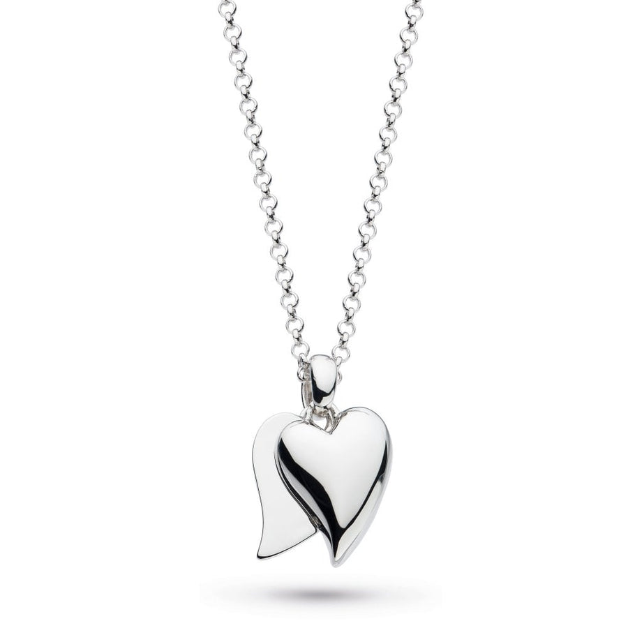 Desire Love Duet Heart Necklace - 90509rp