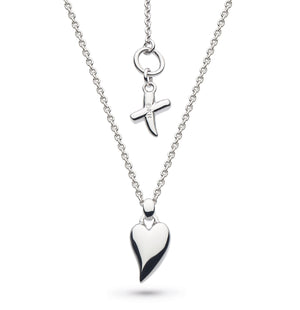 Kit Heath Desire Kiss Rhodium Plate Mini Heart Necklace - 90bj028