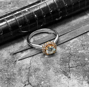 Rose Gold Diamond Engagement Ring - dsr21-050-18wr