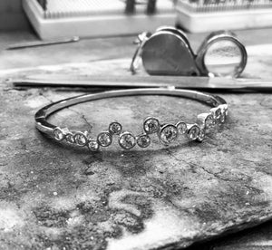 White Gold Diamond Bangle