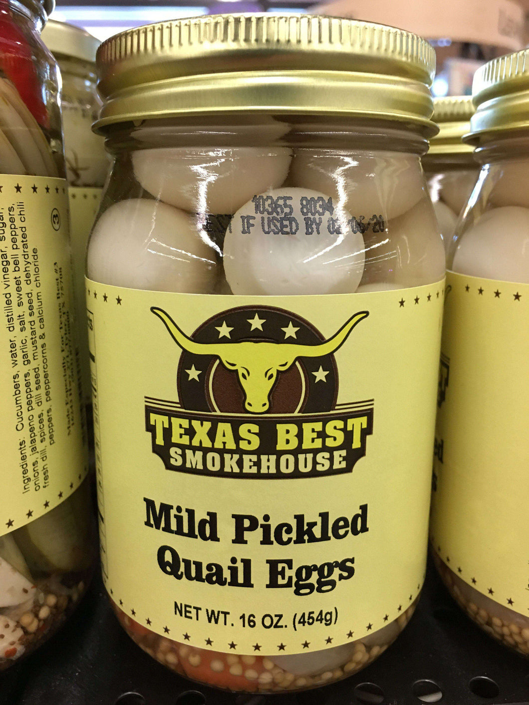 Mild Pickled Quail Eggs 16oz