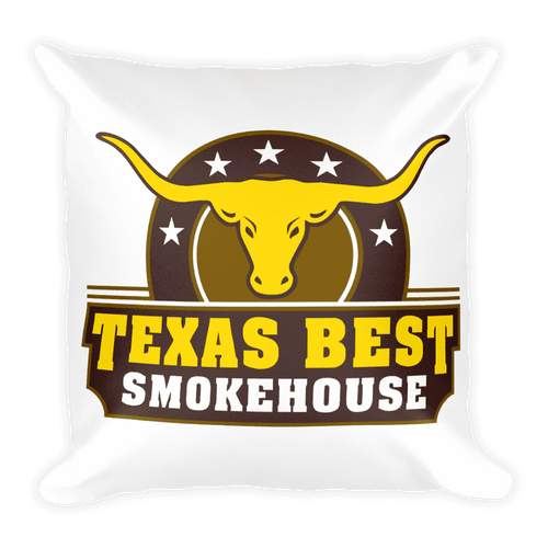 Texas Best Smokehouse Square Pillow Square Pillow