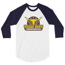 Texas Best Smokehouse 3/4 sleeve raglan shirt