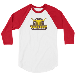 Women's Texas Best Smokehouse 3/4 sleeve raglan shirt