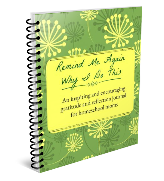 Homeschool Mom's Encouragement & Gratitude Journal