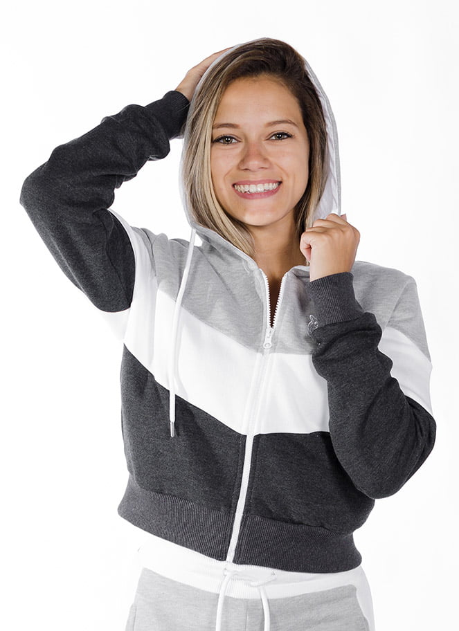 GIA - Hoodie Cropped Grey Star