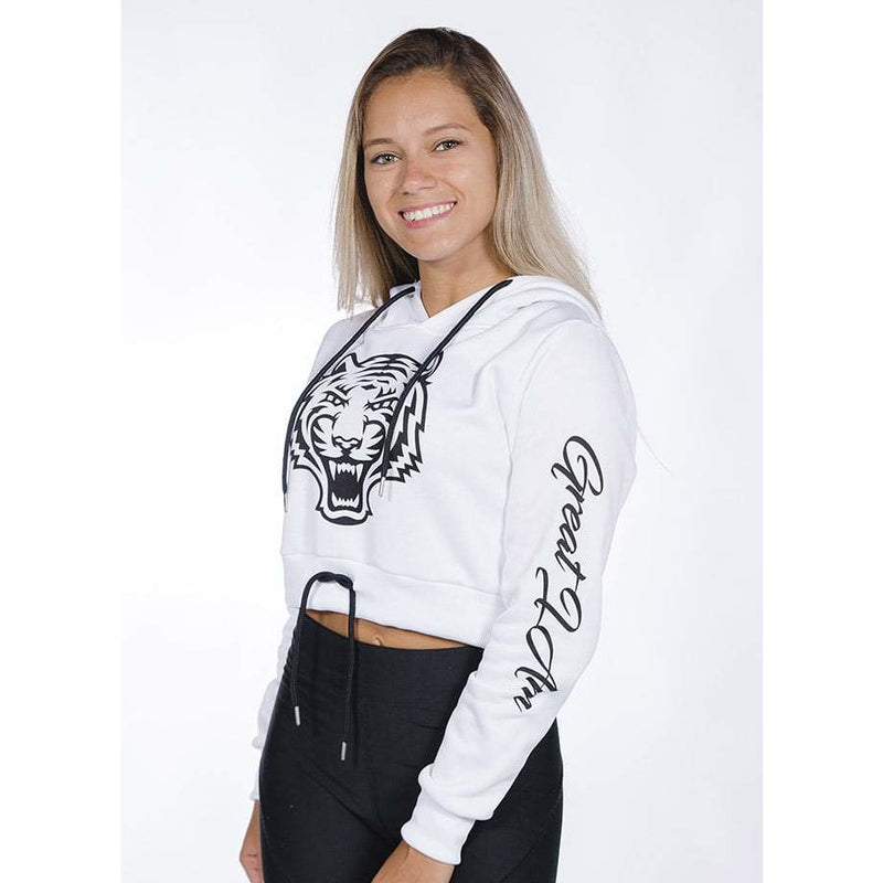 GIA - Hoodie Cropped White Tiger