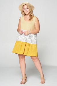 Polka Dotted in Gold Tunic
