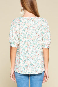 Floral Vibes Eyelet Top