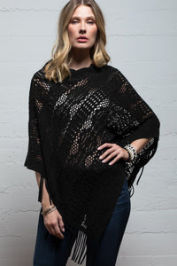 My Crochet Poncho in Black