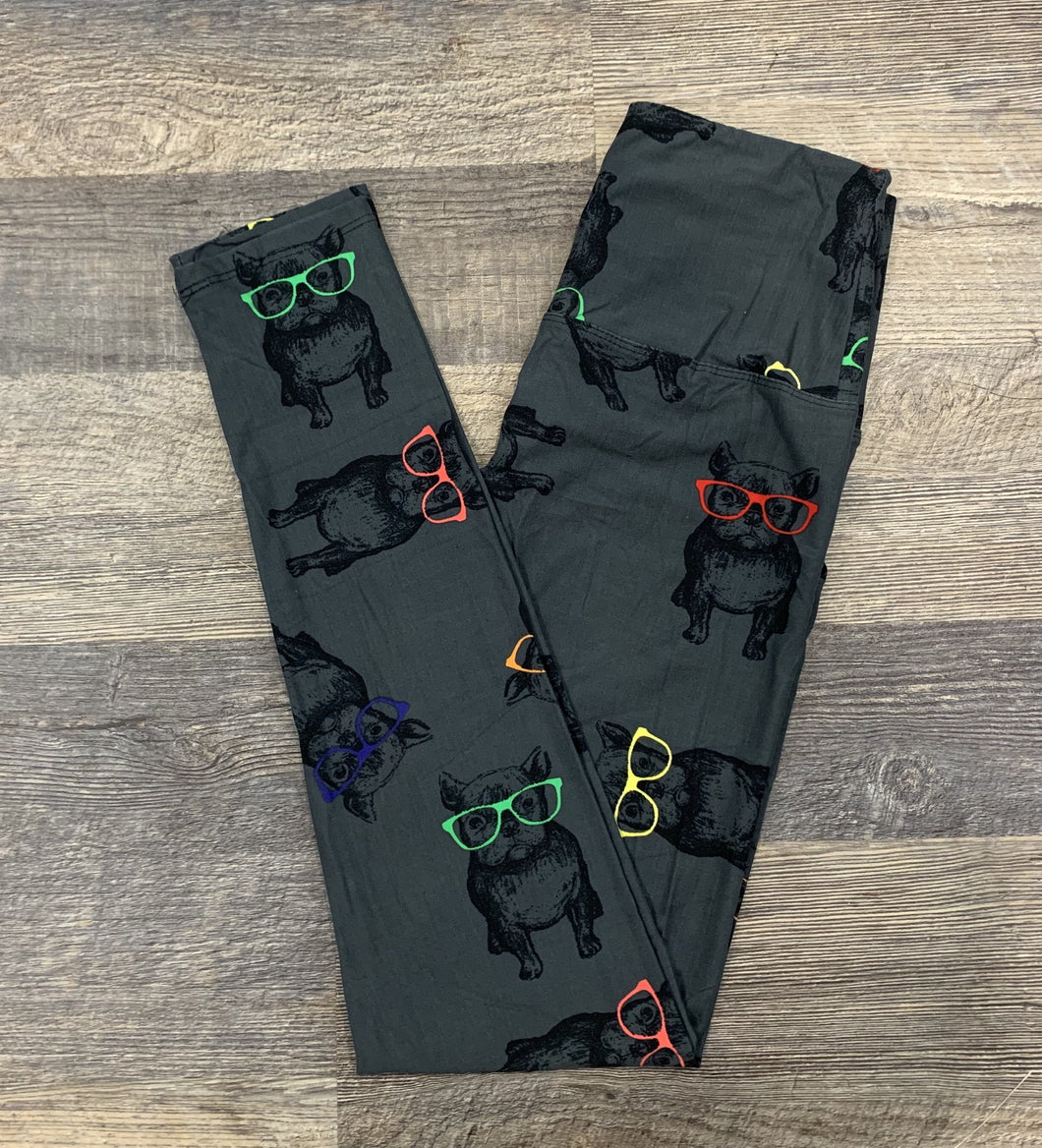 Dogs with Glasses Leggings