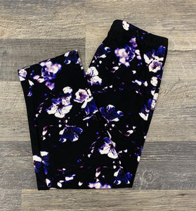 Fun Loving Floral Capri Leggings