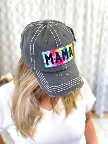 The Best Mama Tie Dye Hat