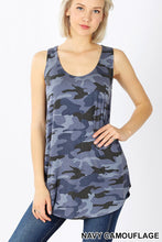 Load image into Gallery viewer, The Summer Camo Tank in Blue