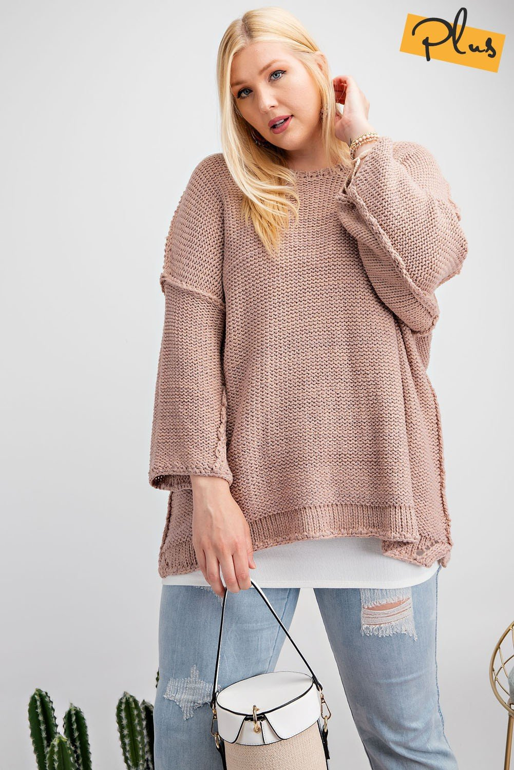 Mad About Mauve Dolman Sweater