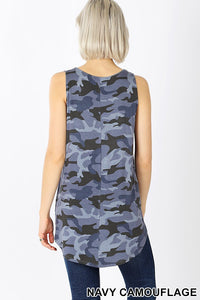 The Summer Camo Tank in Blue