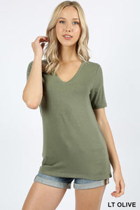Into the Basic Tee in Olive