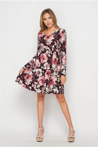 Flirty in Floral Tiered Dress