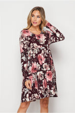 Load image into Gallery viewer, Flirty in Floral Tiered Dress
