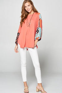Styling in the Spring Bubble Sleeve Top