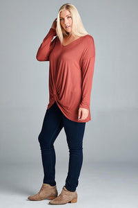 Made for Marsala Knot Top
