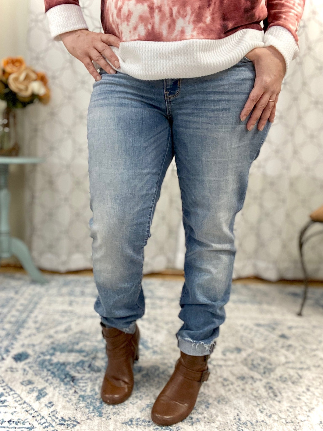 No Nonsense Judy Blue Boyfriend Jeans