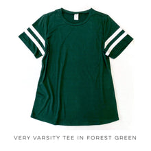 Load image into Gallery viewer, Very Varsity Tee in Forest Green