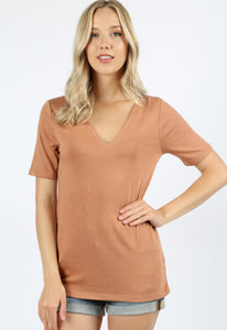 V Neck Straight Fit Tee